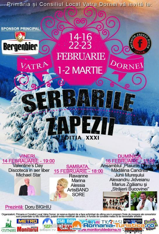 Serbările Zăpezii Vatra Dornei 2014 incep de Valentine's Day