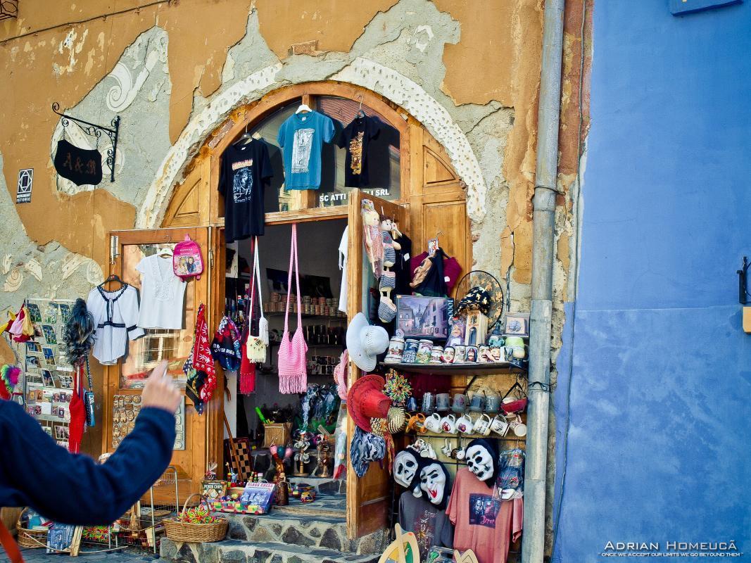 Magazin de suveniruri in Cetatea Sighisoara